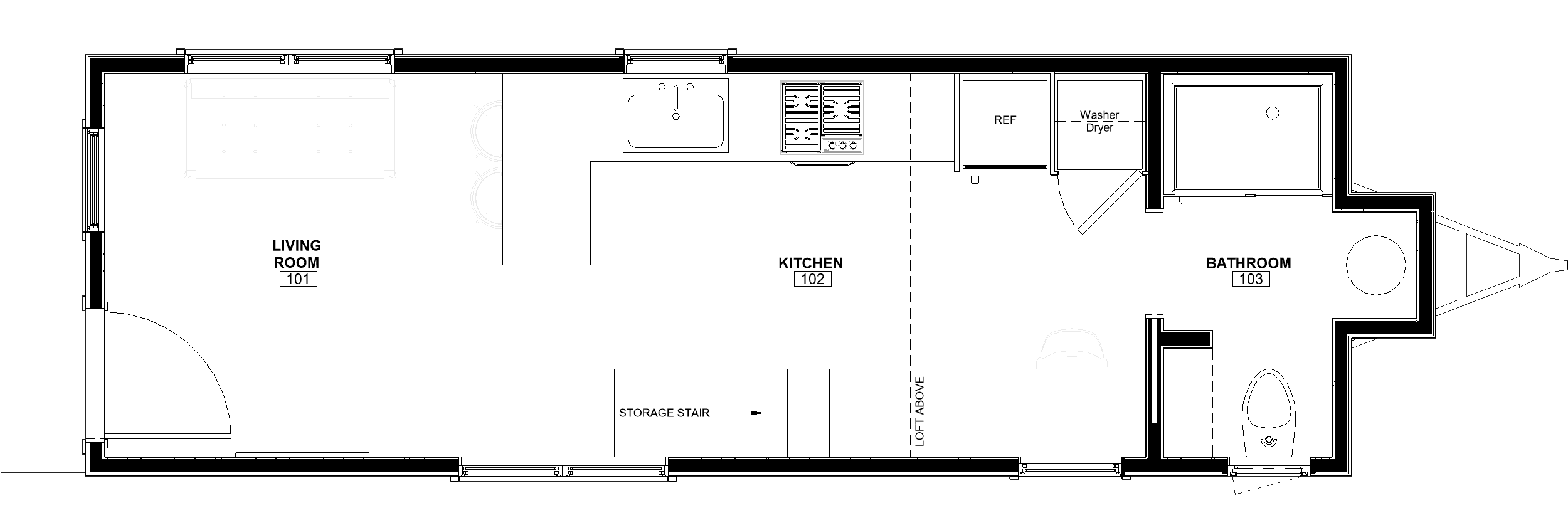 30ft Loft Toccoa floor plan