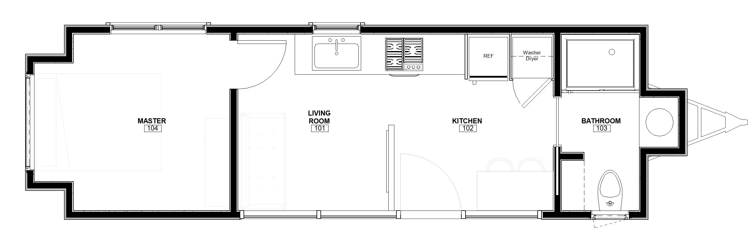 30ft Master on Main The Etowah floor plan