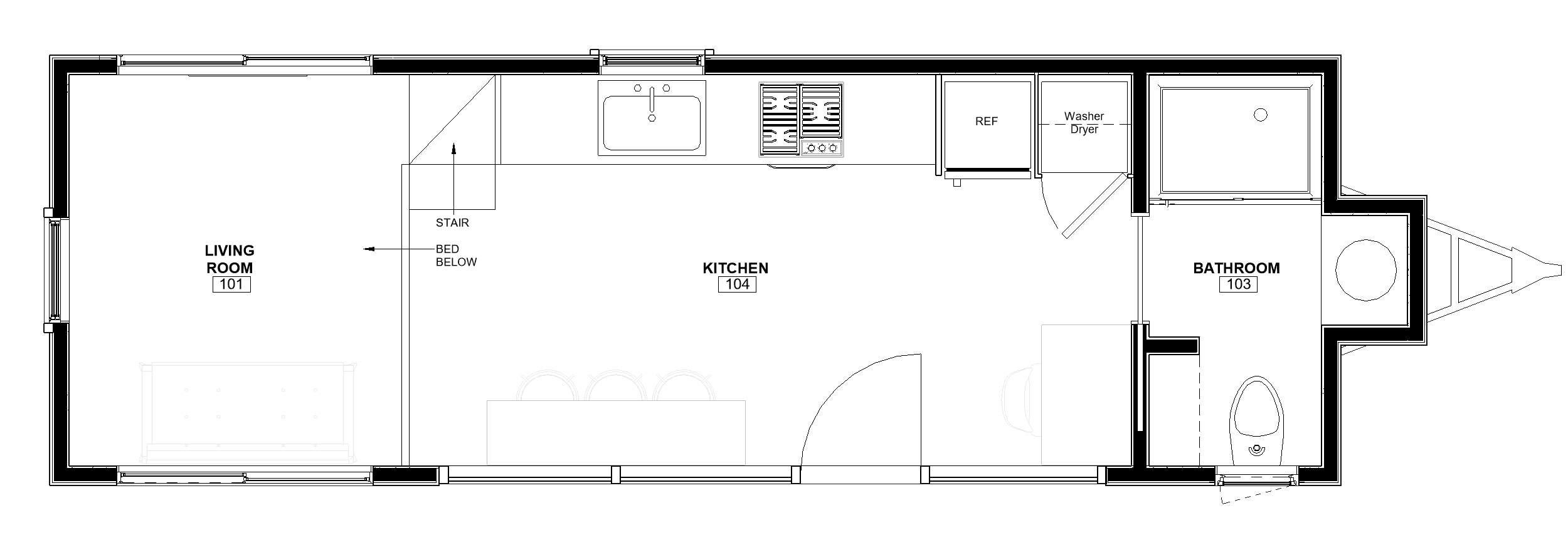 30ft Reverse Loft Pingora floor plan