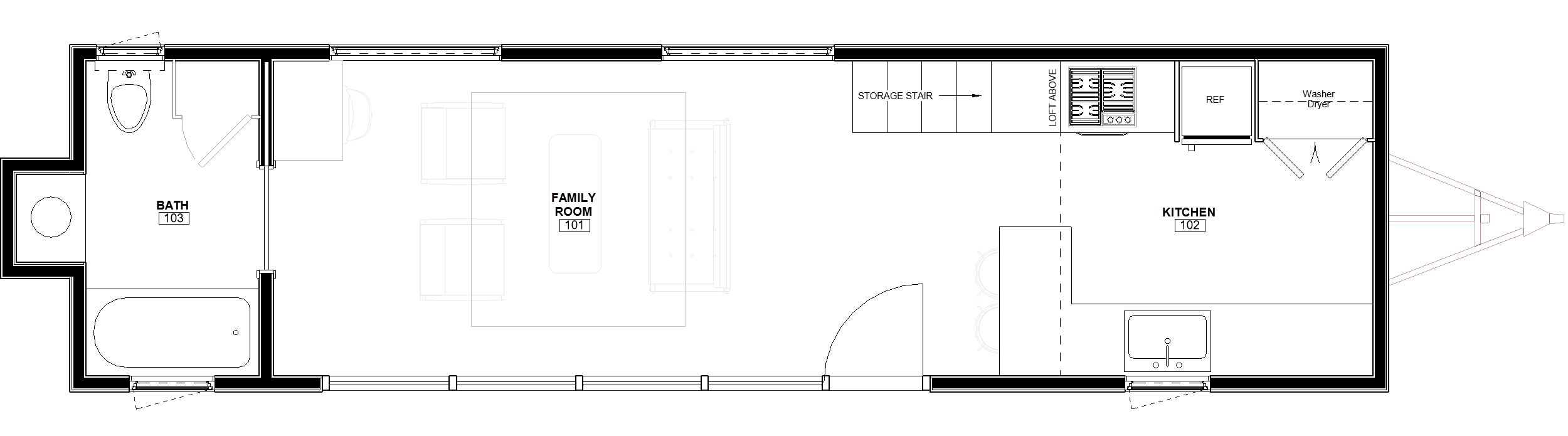 38ft Loft Brooks floor plan