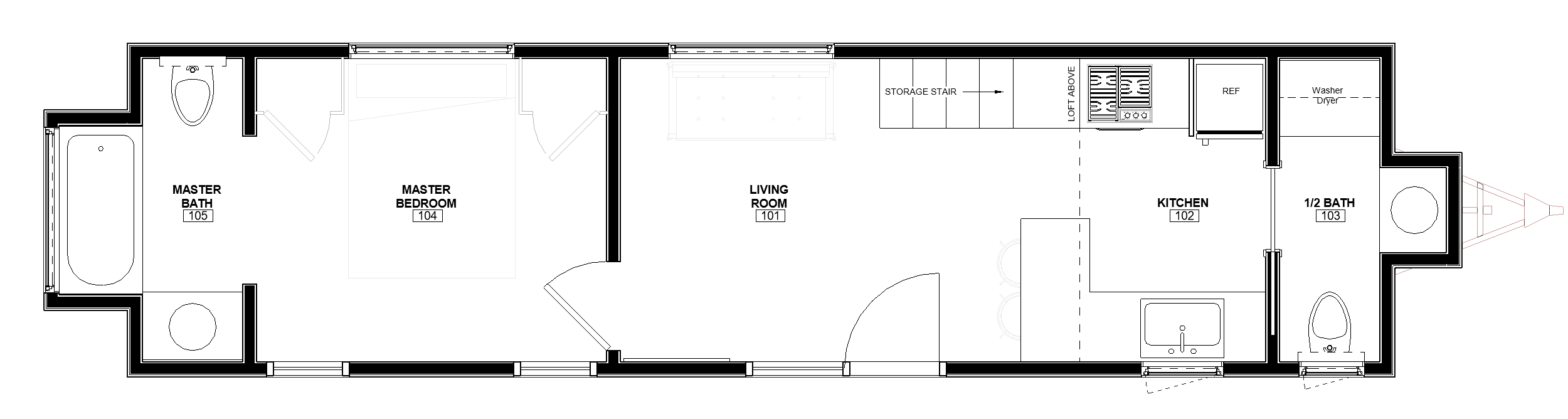 38ft Master on Main The Rutledge floor plan