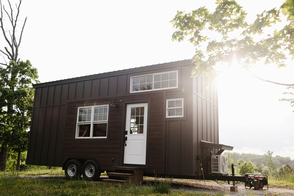 Exterior of a cost effective Tiny Home produced by Wind River Tiny Homes